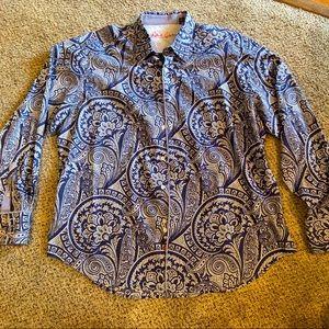 Robert Graham Blue Paisley Button Down Shirt